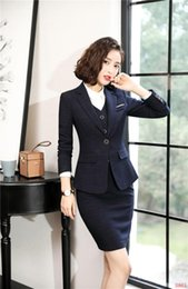 $enCountryForm.capitalKeyWord NZ - Formal Women Business Suits With 3 Piece Sets Skirt and Blazer Coat and Vest & Waistcoat High Quality Fabric OL Styles Blazers