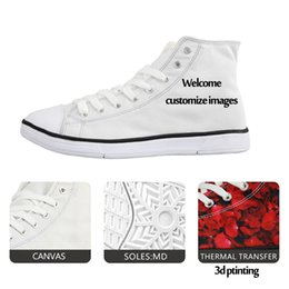 Discount women guitars Customized Fashion Men Vulcanized Shoes Classic 3D Guitar High Top Canvas Shoes Breathable Teenagers Student Lace-up Fla