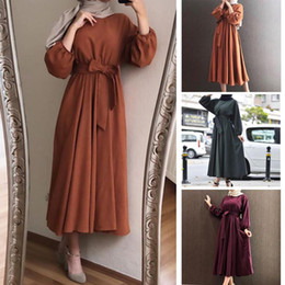 Ethnic Clothing Ladies Kaftan Dubai Plain Abaya Hijab Muslim Dress Caftan Qatar Omani Islamic African Saudi Turkish Dresses For Women