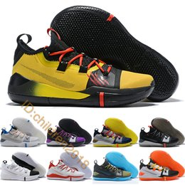 kobe men basketball shoes Australia - Kobe AD Basketball Shoes For Men Sneakers 2019 Designer Kobe Bryant Bruce Lee Moon Particle Triple Black Purple BHM Trainers Size 40-46