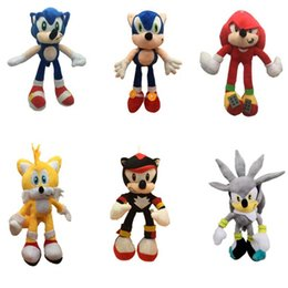$enCountryForm.capitalKeyWord Australia - New Arrival Sonic the hedgehog Sonic Tails Knuckles the Echidna Stuffed animals Plush Toys With Tag 25cm Free Shippng