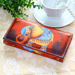 Discount women elephant wallet - Women Wallets Handbags Long Coin Purse Brand Elephant Pattern Moneybags Girls Lady Purses Long Clutch Wallet Cards Id Ho