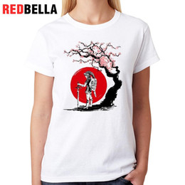 Sakura Figures Australia - Women's Tee Redbella Cool Figure Women T-shirt Video Games Tree Sakura Art Scene Animation Cute Tee Shirt Femininas Printing Fashion Cotton