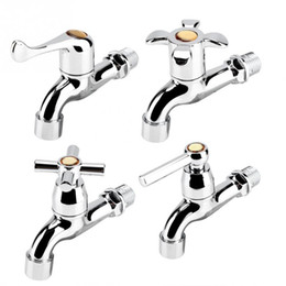 Faucet bathroom wall sink online shopping - ABS Sink Basin Water Tap Washing Machine Faucet Single Spout Single Handle Bathroom Cold Tap Sink Faucets
