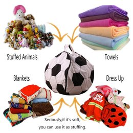 Clothes For Plush Toys Australia - 26 inch Kids toys bean bag for Plush toys Chair Portable Kids Toy Storage Bag & Play Mat Clothes Home Organizer