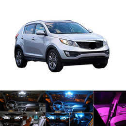 auto map lights Australia - 9Pcs White Ice Blue Pink Canbus LED Car Interior Light Kit For Kia Sportage 2011-2016 Map Dome Trunk Light Auto Interior Lights