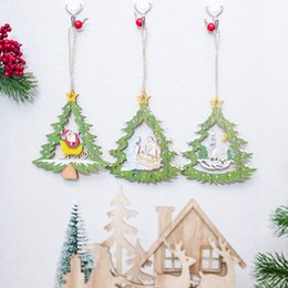 $enCountryForm.capitalKeyWord Australia - 1pcs 10X11cm Wood Christmas Pendant Hollow Santa Claus Snow House Hanging Ornament For Christmas Xmas New Year Party Supply