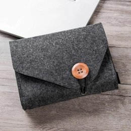 Hanging Product Australia - Mini Felt Pouch Power Bank Storage Bag Data Cable Travel Organizer Digital Products Storage Bag key coin