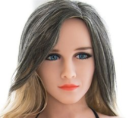 $enCountryForm.capitalKeyWord UK - Top Lifelike Oral Sex Doll Head Silicone Love Toy Sex Tools For Men TPE Sexy dolls Heads For 130cm To 170cm Height Body
