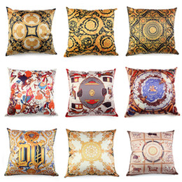 Satin fabric cuShion online shopping - Royal Luxury Cushion Cover High Quality Satin Fabric Throw Pillow Case for Home Christmas Decoration Hotel Sofa Bedding Pillow Cover