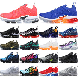 0bc260cd54d524 TN Plus Game Royal Orange USA Game Royal Bright Crimson Grape Volt Hyper  Violet Trainers Sports Sneaker Mens Womens Designer Running Shoes