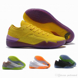 basketball shoes men kb UK - Top Quality 2018 KB A.D. NXT 360 React Mens Basketball Shoes Yellow Strike Mamba Day bryant Multicolor