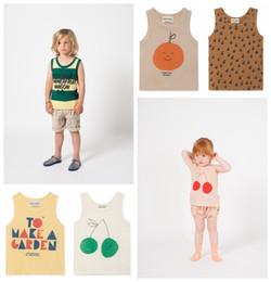 $enCountryForm.capitalKeyWord NZ - Bobo Tao Girls Tops New Arrivals 2019 Kids Summer Vest T-shirt For Boys Kids Cotton Printed Vest Cherry Apple Print Tops Tank Y19051003