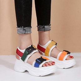 $enCountryForm.capitalKeyWord Australia - Lucyever 2019 New Fashion Women Platform Sandals Ladies Casual Peep-toe Wedges Shoes Woman Sandalias Mujer Black White Y19070503