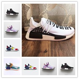 white glow powder Australia - Hot Luxury Running Shoes Pharrell Williams Hu Human Race Equality Hoil Inspiration Core Footwear Powder Glow Solar Ras Brand Design Sneakers