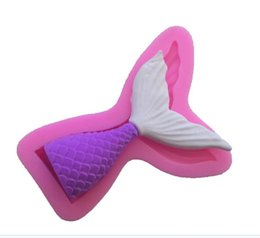 $enCountryForm.capitalKeyWord Australia - Christening Mermaid Tail Silicone Mold Fondant Cupcake Cake Decorating Baking Tools Handmade Soap Mold Fish Fork Tail DHL Free
