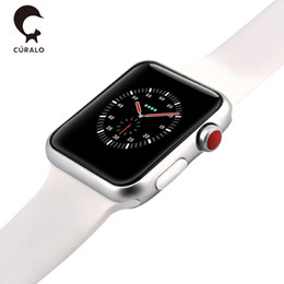 Chinese  Magnetic Adsorption Wireless Charging Goophone Watch 3 Smart Watch 42mm Bluetooth 4.0 MTK2502C Wearable Smartwatch for iPhone X Goophone X manufacturers