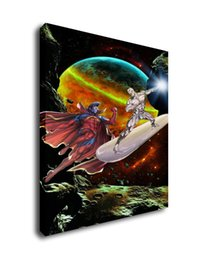 fantasy art oil paintings Australia - Fantasy Art Silver Surfer Vs Superman,Oil Painting Reproduction High Quality Giclee Print on Canvas Modern Home Art Decor