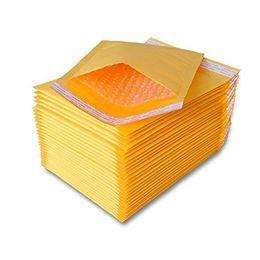 150mmx180mm 180mmx220mm Jaune Kraft Bubble Mailers Enveloppes Rembourrées Sacs D'expédition De Poste Sac D'emballage Pochette Auto-Joint Livraison Gratuite en Solde