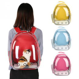 Wholesale 4 Colors Breathable Small Pet Carrier Bag Portable Pet Outdoor Travel Backpack Dog Cat Carrying Cage