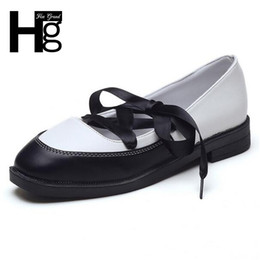 $enCountryForm.capitalKeyWord Australia - Designer Dress Shoes HEE GRAND Woman Daily Low Heels Cross-tied Oxfords for Girls Fashion Lace up Square Toe Spring Women XWD5831
