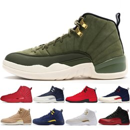 Discount tassel chinese - 12 12s Gym red WNTR mens Basketball shoes Michigan International Flight College Navy Flu Game Chinese New Year men sport
