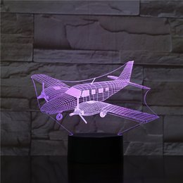 Toy 3d Helicopter Australia - New Interesting USB 3D LED 7 Color Changing Night Lights Helicopter Modelling Bedroom Home Decoration Travel Gifts Toy