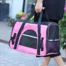 soft dog carriers NZ - Dog Carrier Bags Portable Pet Cat Backpack Messenger Cat Carrier Outgoing Small Dog Travel Bag Soft Side Breathable Mesh Handbag Gifts