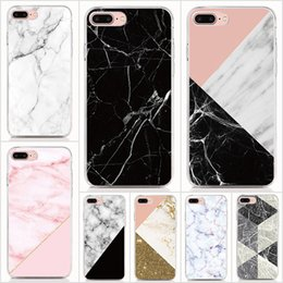 Tpu Print Australia - For iPhone XS XR XS Max X 8 7 6 Plus 5S case Hard PC and soft TPU High quality print pictures Print Marble back cover Phone cases 10pcs lot