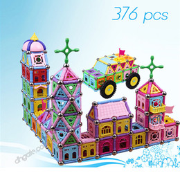 magnetic construction toys for children NZ - Magnetic building blocks 376PCS kids educational puzzle toys children palace construction building brick toys christmas gifts for kids toy