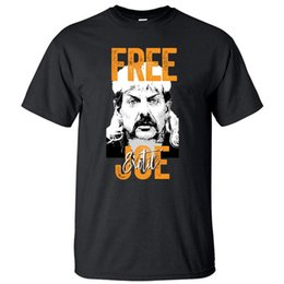 wholesale tiger t shirts Canada - Free Joe Exotic Tshirt Men Tiger King 2020 Summer Tops T Shirt Shirts For President Short Sleeve Tees Cotton Tshirts Streetwear