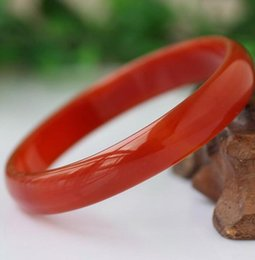 Chinese  Brazil 5A natural female models thick red agate bracelet jade manufacturers promotion manufacturers