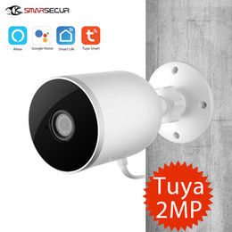 video security camera systems NZ - Smart Home Security System Graffiti Smart Wireless Network Outdoor Motion Detection Waterproof Gun Camera Tuya Wifi Camera
