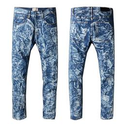 Acrylic fly online shopping - Fear Of God Designer Jeans Mens Ripped Biker Jeans Slim Fit Motorcycle Biker Denim Jeans Hip Hop Designer Pants FOG Mens Pants