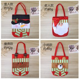 outdoor festival decorations Australia - Free DHL-Christmas decorations Santa Claus gift bags Children's handbags Non-woven candy bags Festival supplies