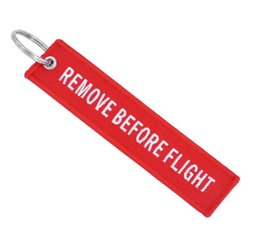 $enCountryForm.capitalKeyWord Australia - Remove Before Flight Keychain for Men and Women Double-Sided Red