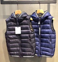 f753faedfba 2018 Autumn Winter Warm Mens Designer Jackets New White Goose Down Slim Hooded  Down Vest Thick Casual Mens Down Jacket Size M-3XL