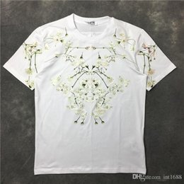 $enCountryForm.capitalKeyWord NZ - 2017 Summer New Fashion Brand Lilac Flower Petals White Print Short Sleeves T Shirt Mentee O-neck Casual Men T-shirt Cotton T Shirts