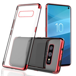 Plate clear online shopping - For Samsung Galaxy S10 Plus S10e S9 Plating Soft Clear TPU Case Silicone Transparent Gel Cover Phone For Y62018 Psmart Huawei P30