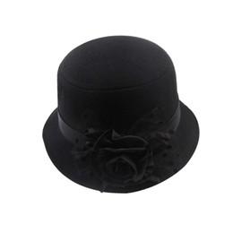 $enCountryForm.capitalKeyWord UK - Black Stylish Women Lady Vintage Elegant Cloche Flower Rose Bucket Hat Headwear Fashion Design
