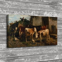 $enCountryForm.capitalKeyWord Australia - Animal Cows Chickens,Home Decor HD Printed Modern Art Painting on Canvas (Unframed Framed)