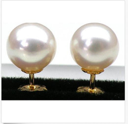 China AAA+++ 8 MM GRADE PERFECT ROUND WHITE AKOYA PEARLS EARRING 14K SOLID GOLD cheap solid copper earrings suppliers