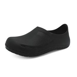 $enCountryForm.capitalKeyWord Australia - 2019 Men's Chef Kitchen Working Slippers Black Garden Shoes Summer Breathable Mules Clogs Men Anti Slip Hospital Shoes Sandals