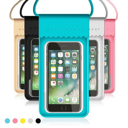 $enCountryForm.capitalKeyWord NZ - New PU Waterproof Mobile Phone Case For iPhone X 7 6 Samsung Clear PVC Sealed Underwater Cell Smart Phone Dry Pouch Cover