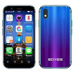 smartphone backup Canada - Luxury New SOYES XS Mini Smartphone 3GB+32GB Android 6.0 1580mAh 4G Mobile Wifi GPS Glass Body Backup Cellphone PK 7S Melrose S9