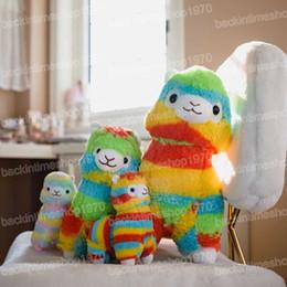 $enCountryForm.capitalKeyWord Australia - Lovely Japanese Alpacasso Soft Plush Toys Doll Kawaii rainbow Sheep Alpaca Plush Stuffed Animals Toys Kids Christmas Gifts