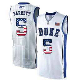 highest quality wine 2019 - Mens RJ Barrett Jersey Custom Duke Blue Devils College Basketball Jerseys Fashion USA Flag High Quality Stitched Size S-