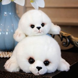 quality plush toys Australia - Quality 2 pcs Simulation Animal Seal Plush Toy Super Cute Sea Seal Stuffed Doll for Kids Birthday Holiday Gifts Car Deco DY50562