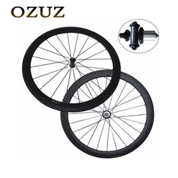 Carbon Road Bicycles Sale Australia - Factory sales straight pull 50mm depth 23mm width carbon fiber bike wheels matte or glossy clincher tubular China 700c bicycle