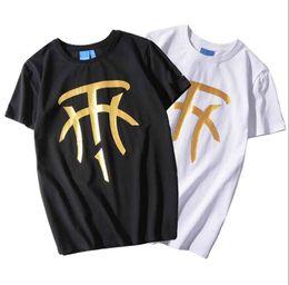 $enCountryForm.capitalKeyWord NZ - 199SS trend brand tshirt mens personality gold-plated printing fashion designer t shirt street popular casual round neck short-sleeved tops
